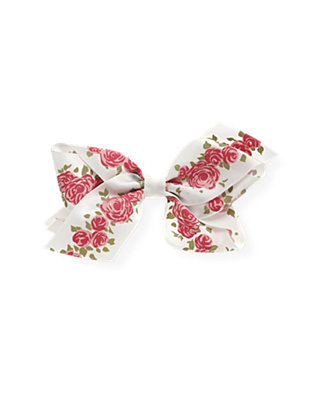 Rose Garland Rose Blossom Satin Bow at JanieandJack