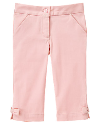 Parisian Pink Bow Sateen Crop Pant at JanieandJack