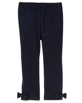 Classic Navy Bow Legging at JanieandJack
