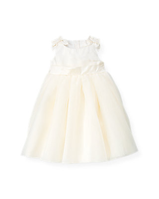 Jet Ivory Silk Sash Tulle Dress at JanieandJack