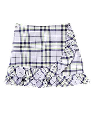 Lavender Plaid Ruffle Plaid Skirt at JanieandJack