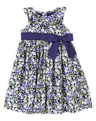 Violet Floral Bow Floral Dress at JanieandJack