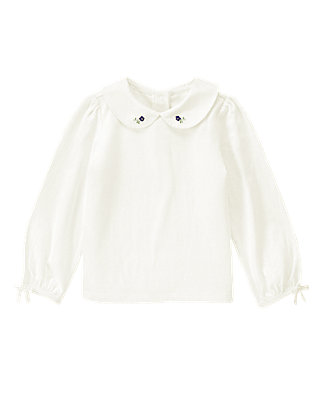 Jet Ivory Blossom Collar Top at JanieandJack