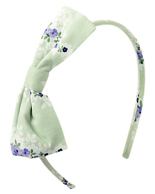 Mint Blossom Bow Floral Headband at JanieandJack