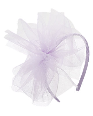 Lavender Tulle Ribbon Headband at JanieandJack