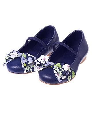 Deep Violet Floral Bow Shoe at JanieandJack
