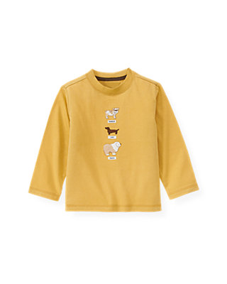 Goldenrod Yellow Dogs Tee at JanieandJack