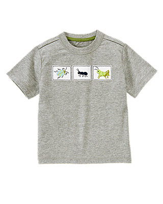Heather Grey Bug Tee at JanieandJack