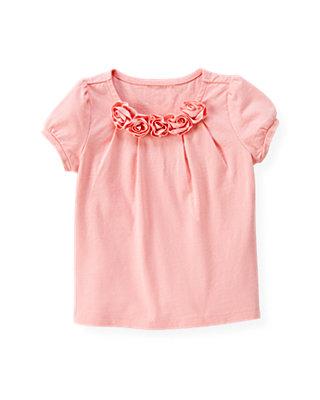 Classic Pink Ribbon Rosette Top at JanieandJack
