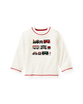 Jet Ivory Train Tee at JanieandJack