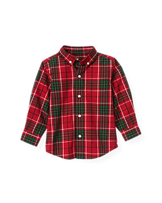 Holiday Red Plaid Plaid Shirt at JanieandJack