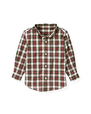 Pine Green Plaid Plaid Shirt at JanieandJack