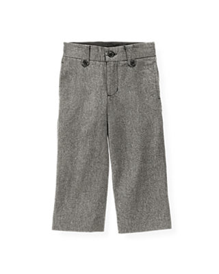 Dark Grey Herringbone Herringbone Trouser at JanieandJack