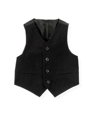 Black Moleskin Suit Vest at JanieandJack