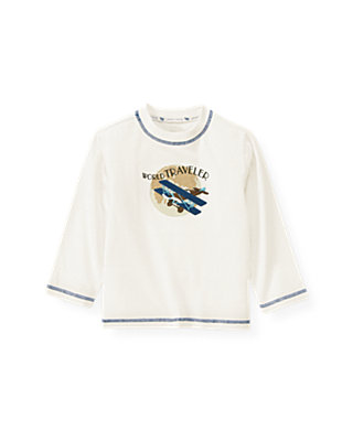 Jet Ivory Airplane Tee at JanieandJack