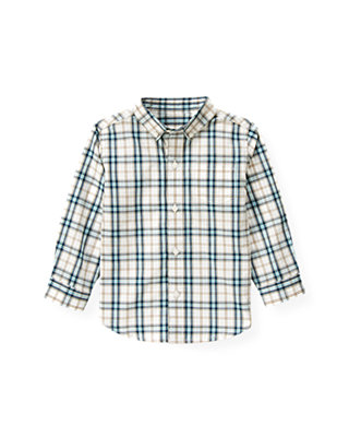 Globe Blue Check Plaid Shirt at JanieandJack