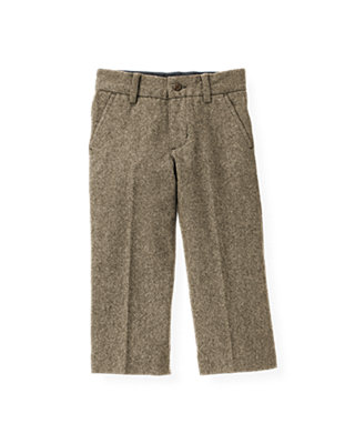 Autumn Brown Heather Tweed Suit Trouser at JanieandJack