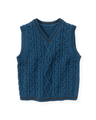 Propeller Blue Cable Sweater Vest at JanieandJack