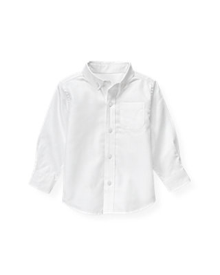 White Dobby Dress Shirt at JanieandJack
