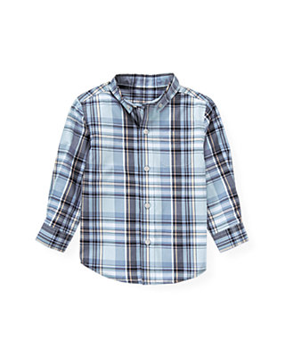 Winter Blue Plaid Plaid Shirt at JanieandJack