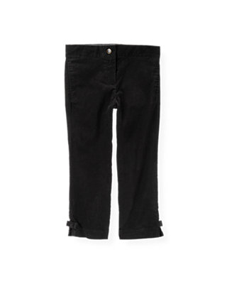 Black Bow Uncut Corduroy Pant at JanieandJack