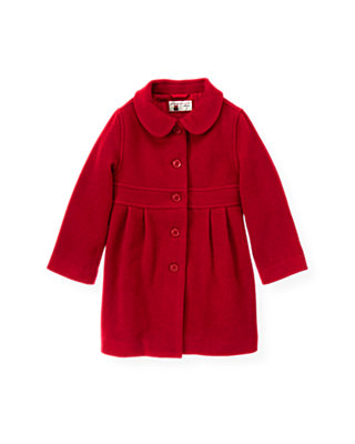 Holiday Red Melton Dress Coat at JanieandJack