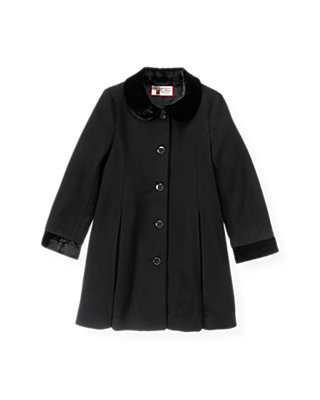 Black Felted Dress Coat at JanieandJack