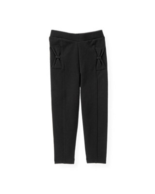 Black Bow Ponte Pant at JanieandJack