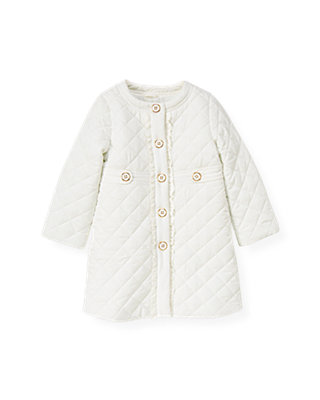Jet Ivory Quilted Coat at JanieandJack
