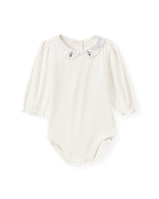 Jet Ivory Pintucked Collar Bodysuit at JanieandJack