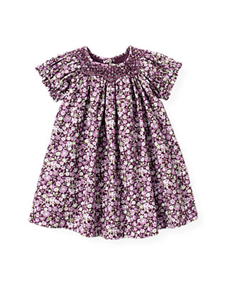 Hydrangea Floral Hand-Smocked Floral Dress at JanieandJack