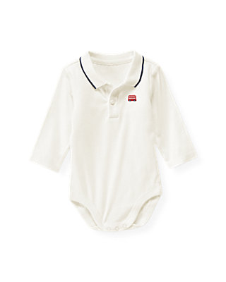 Jet Ivory Doubledecker Bus Polo Bodysuit at JanieandJack