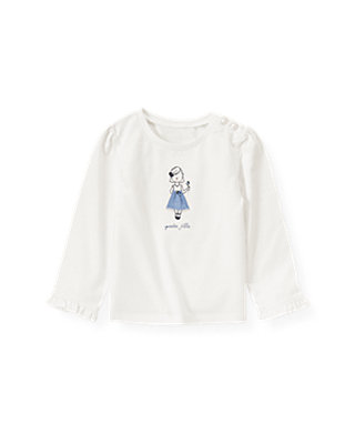 Jet Ivory French Girl Top at JanieandJack