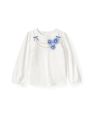 Jet Ivory Tulle Rosette Necklace Top at JanieandJack