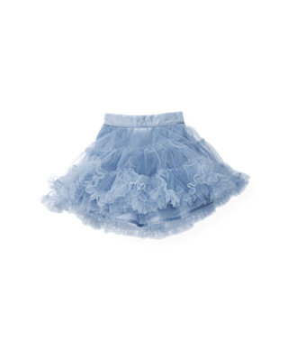 Winter Blue Tiered Tulle Skirt at JanieandJack