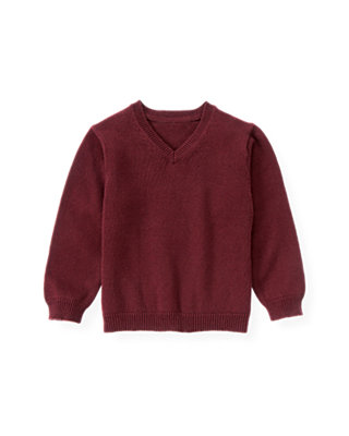 Port Wine V-Neck Sweater at JanieandJack