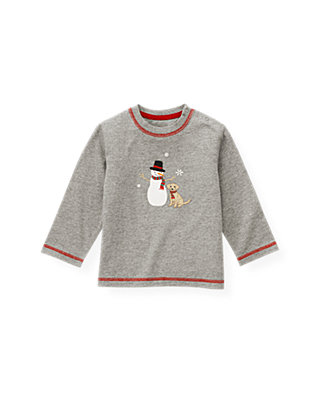 Polar Grey Snowman Tee at JanieandJack