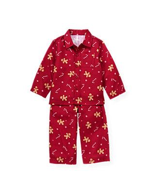 Red Holly Gingerbread Pajama Set at JanieandJack