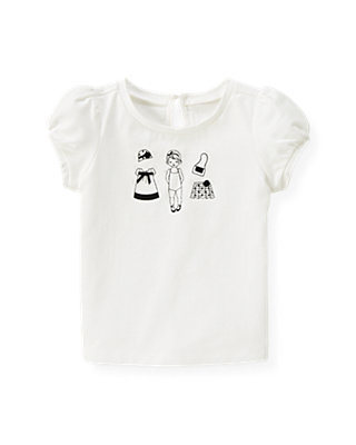 Jet Ivory Vintage Paper Doll Top at JanieandJack