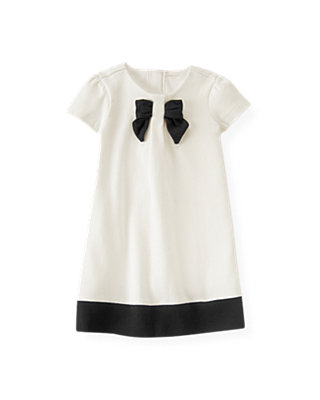 Jet Ivory Bow Ponte Dress at JanieandJack
