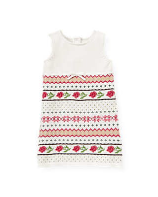 Holiday Rose Fair Isle Sweater Jumper at JanieandJack