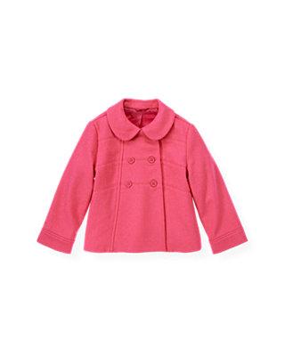Bright Pink Felted Jacket at JanieandJack