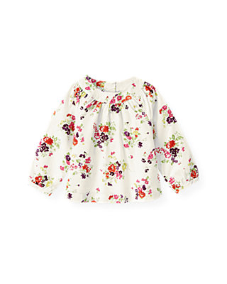 Ivory Floral Floral Top at JanieandJack