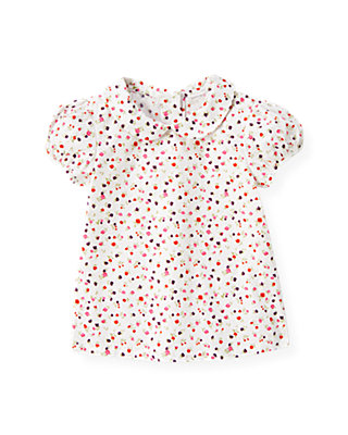 Ivory Mini Floral Floral Collar Top at JanieandJack