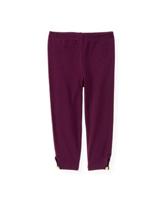 Plum Button Cuff Legging at JanieandJack