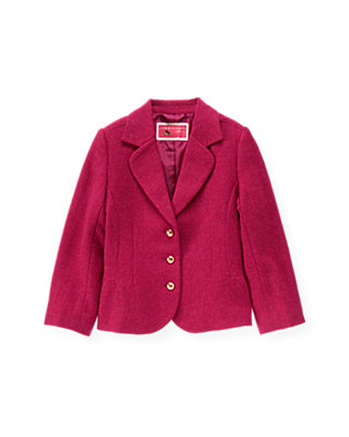 Raspberry Pink Tweed Blazer at JanieandJack