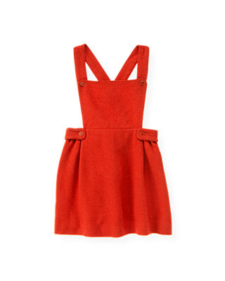 Autumn Orange Button Tab Jumper at JanieandJack
