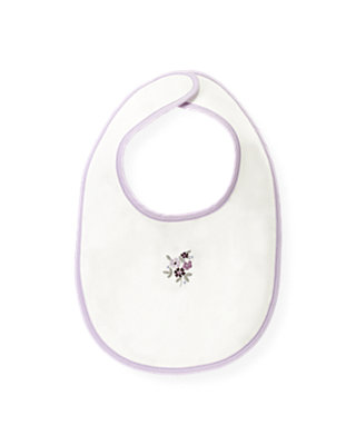 Jet Ivory Embroidered Floral Bib at JanieandJack