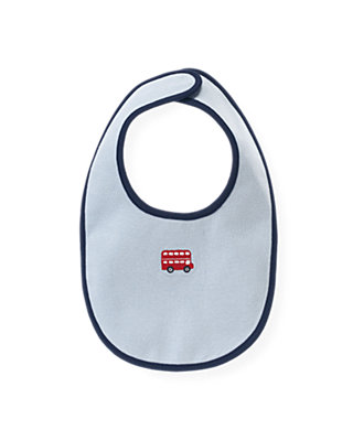 Cloud Blue Doubledecker Bus Bib at JanieandJack