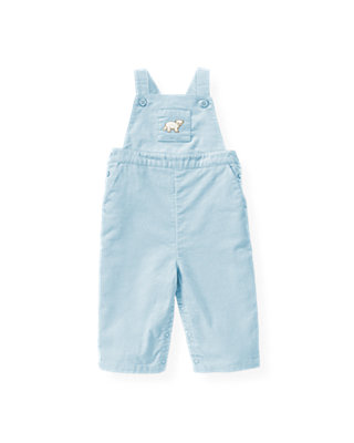 Baby Boy Ice Blue Polar Bear Overall at JanieandJack
